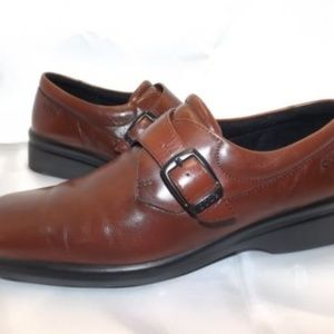 ECCO Ladies Brown Buckle Leather Loafer